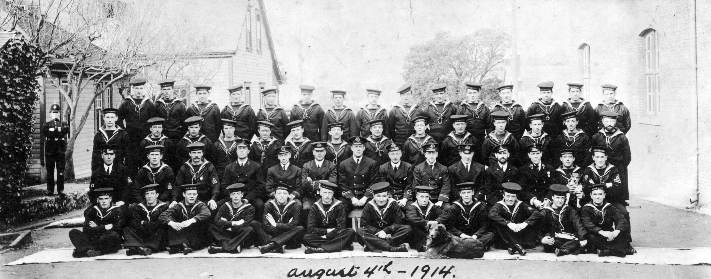 Group portrait of Royal Canadian Navy Volunteer Reserve