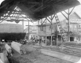 [Exterior of Vancouver Shipyards Ltd. (W. Watts Boat Builder) - 1877 West Georgia Street]