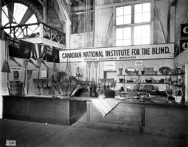 Canadian National Institute for the Blind display of handicraft