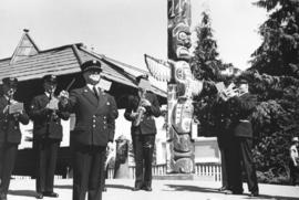 "[The Firemen's Band playing at the unveiling of the walking beam of the S.S. ""Beaver&qu..."