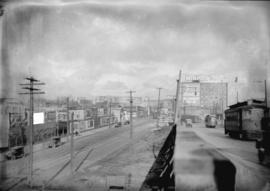 Taken for Duker and Shaw Ltd., billboard advertising  [looking north from north end of Granville ...