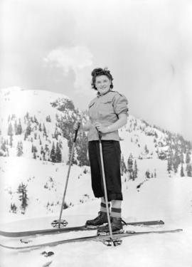 [Female skier on Mt. Seymour]