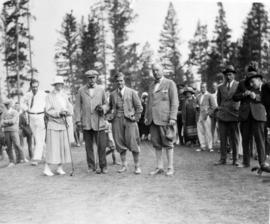[Douglas Haig, 1st Earl Haig (Field Marshal) and others on a golf course]
