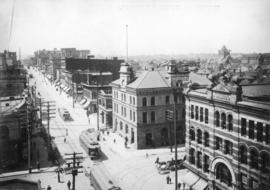 [Granville Street, south of Pender Street, showing Post Office and Fairfield Building]