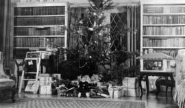 Christmas [tree, interior of 5575 Angus Avenue]