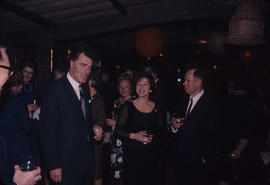Inauguration dinner [at Trader Vic's], Mr. and Mrs. Gould [and] R. Baker