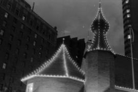 Castle Vancouver roof at night