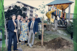 Breaking ground on Lord Roberts playground project
