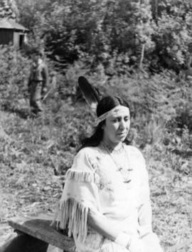 [Chief Joe Capilano's daughter during the royal visit]
