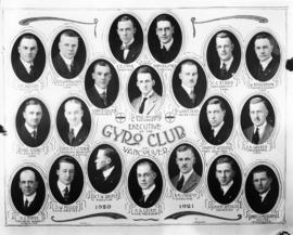 Gyro Club officers composite photograph