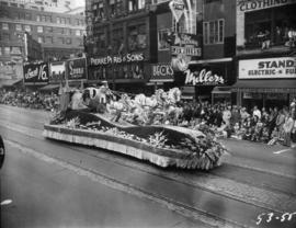 B.C. Electric float in 1953 P.N.E. Opening Day Parade