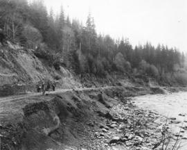 [Repairing the road after the Seymour Creek washout]