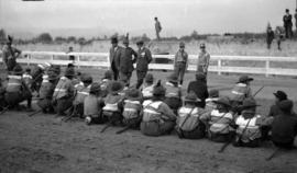 [General Baden-Powell speaking to a group of scouts at a Scout Rally, Hastings Park]
