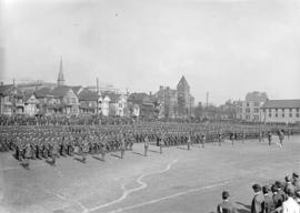 [Troops at Cambie Street grounds]