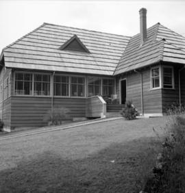 [Exterior view of a guesthouse on Bowen Island]