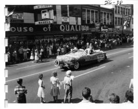 North Surrey Board of Trade decorated car in 1956 P.N.E. Opening Day Parade