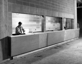 Construction of concession stand in Pacific Coliseum
