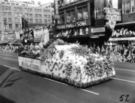 Chinese Catholic Centre float in 1955 P.N.E. Opening Day Parade