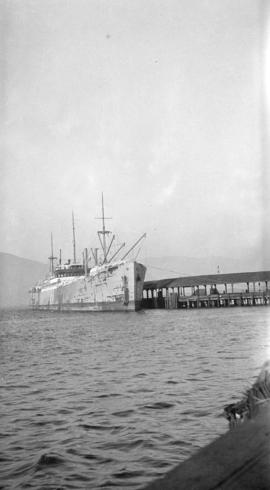 "[M.S. ""Canada"" - Swedish ship at dock]"