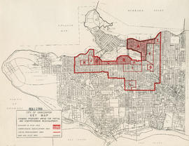 Key map showing proposed areas for partial and comprehensive redevelopment