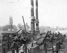 [The Iron Works, New Westminster, after great fire]