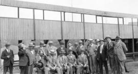 [Group photograph of Mayor L.D. Taylor and other men at the Vancouver Exhibition]