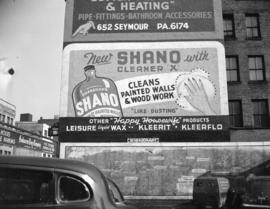"[Shanahan's] ""Shano"" advertisement [painted on the side of a building]"