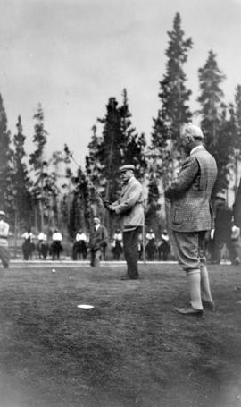 [Douglas Haig, 1st Earl Haig (Field Marshal) playing golf]