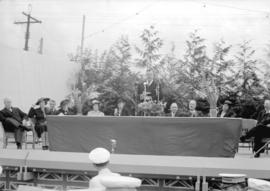 Canadian Pacific Exhibition [head table of officials]
