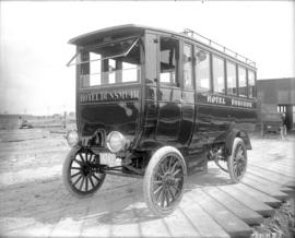 [Electrically operated bus used by the Dunsmuir Hotel to meet boats at the dock]