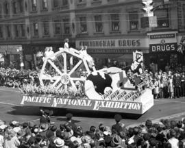 Pacific National Exhibition float in 1947 P.N.E. Opening Day Parade