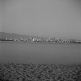 [View of West End and downtown Vancouver] from Spanish Banks