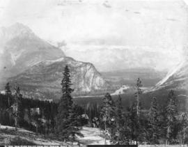 Bow River Valley from Hot Springs, Banff National Park