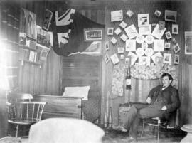 [Unidentified man and interior of home]