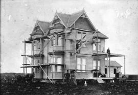 [The Steves' residence under construction]