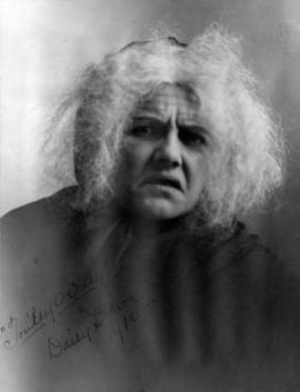 [Daisy D'Avara, actress, in role of old woman]
