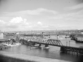 [View of False Creek looking east from the Burrard Bridge]