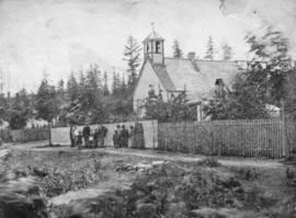 [The first Indian church (Wesleyan Methodist) in Nanaimo]