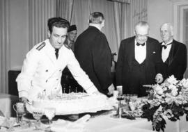 [The cake at The Honourable E.W. Hamber's birthday dinner]