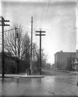 [View of Burrard Street, looking south from Georgia Street]