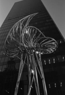 [Sculpture by George Norris in front of] Pacific Centre