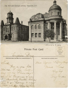 City Hall and Carnegie Library, Vancouver, B.C.