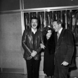 Robert Goulet, unidentified woman and Hugh Pickett