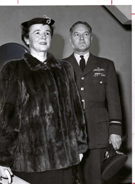 Air Commodore Walter A. Orr and Mrs. Elizabeth Orr at State Ball grand opening in Victoria