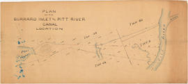 Plan of the Burrard Inlet and Pitt River canal location