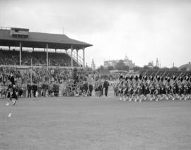 Caledonian Games [Procession at Hastings Park track]