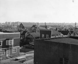 [View looking west from the 2100 block Arbutus Street]