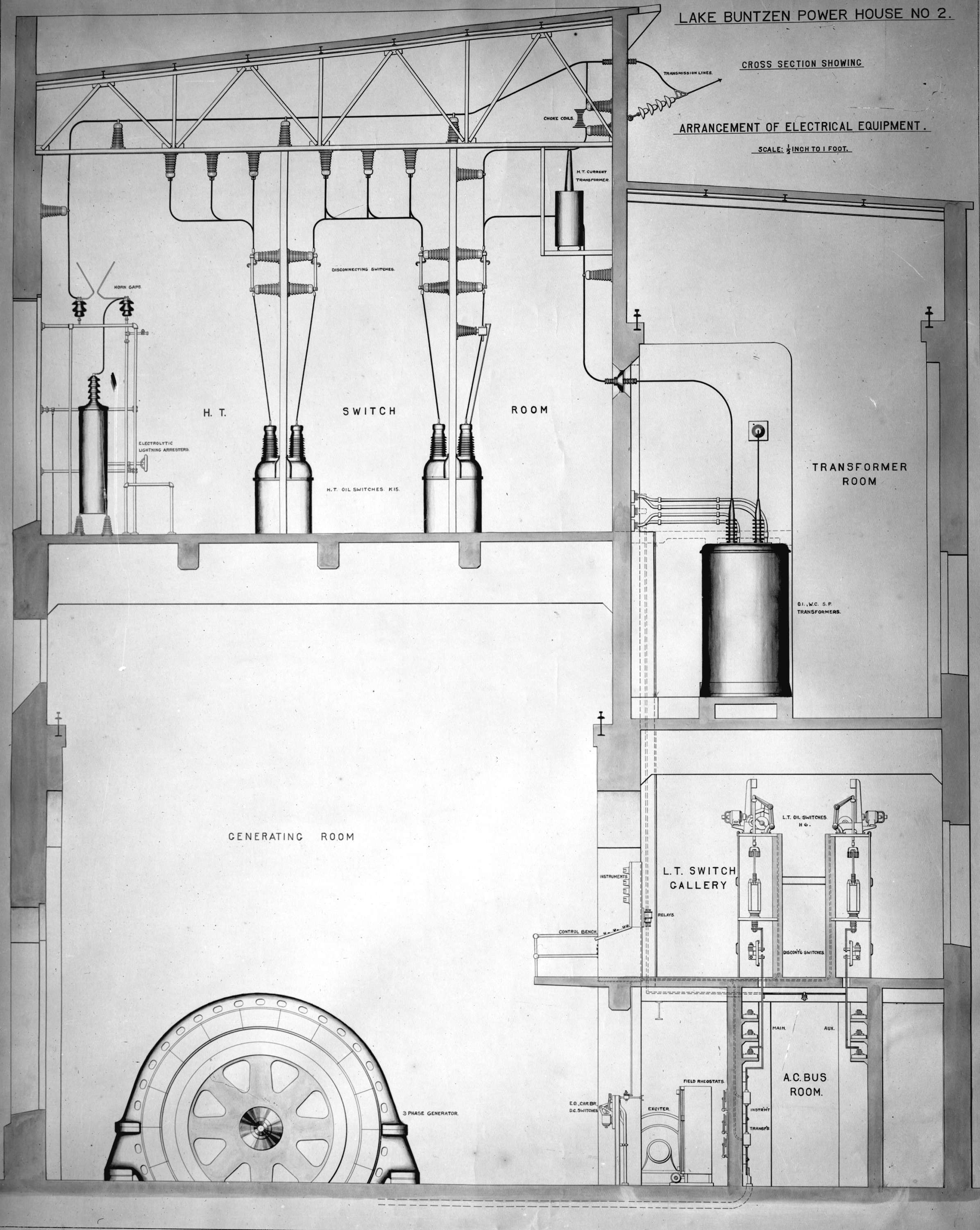 Technical Drawing Showing Cross Section Of Electrical Equipment For House Open Original Digital Object