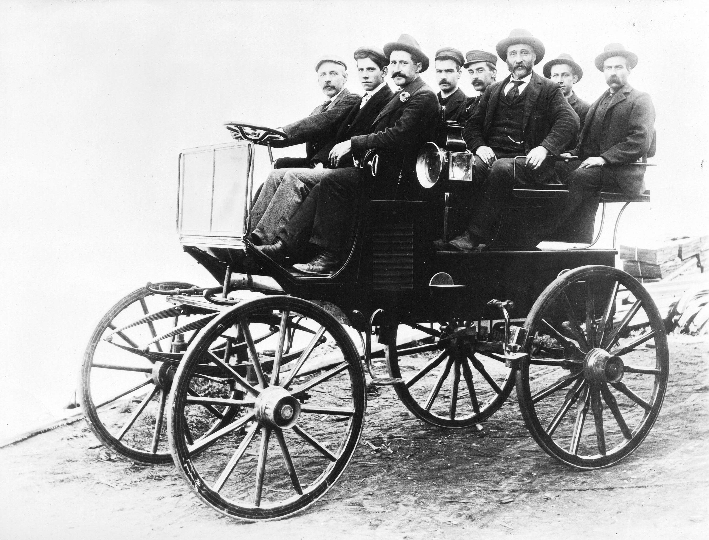 The First Horseless Carriage In Vancouver City Of Vancouver Archives