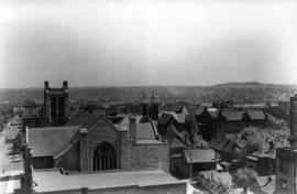 [Looking east from Thurlow Street along Nelson Street]
